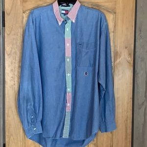 Tommy Hilfiger chambray shirt with stripe detail
